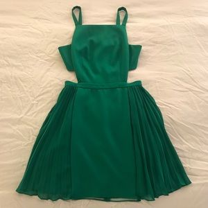 Emerald Green BCBG Dress with Cutouts